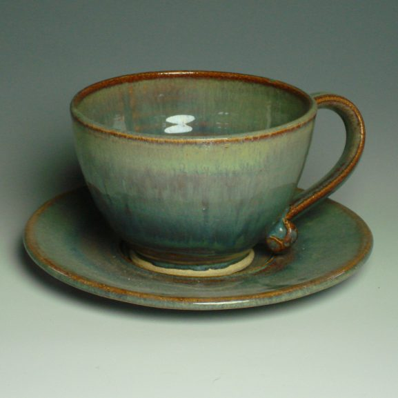 Cappucino Cup and Saucer - Autumn