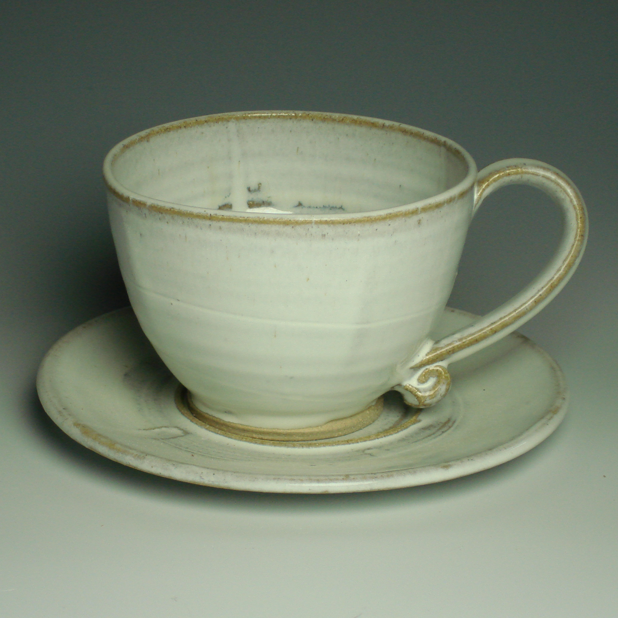 Cappucino Cup and Saucer - Winter white