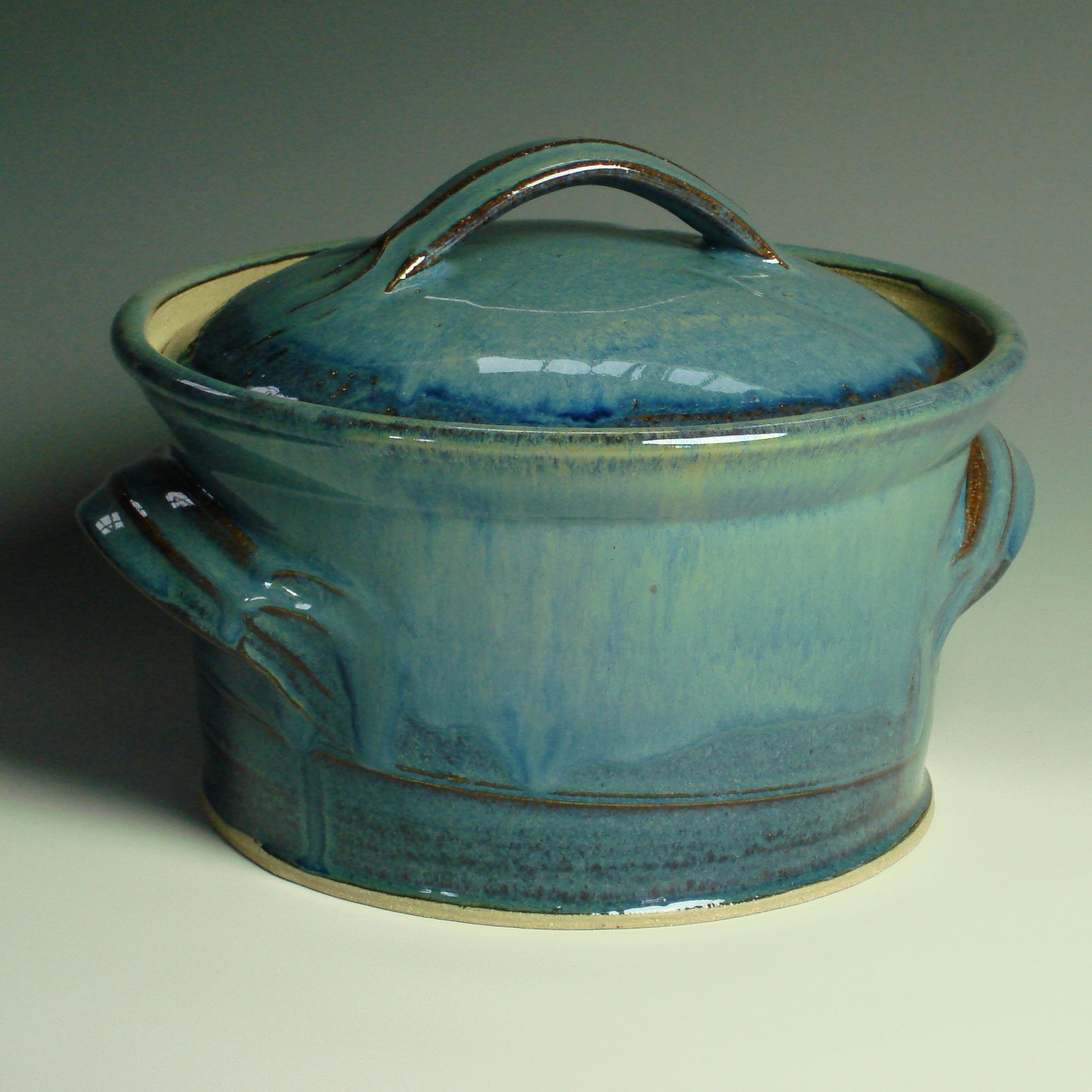 Handmade Casserole Dish - Summer blue