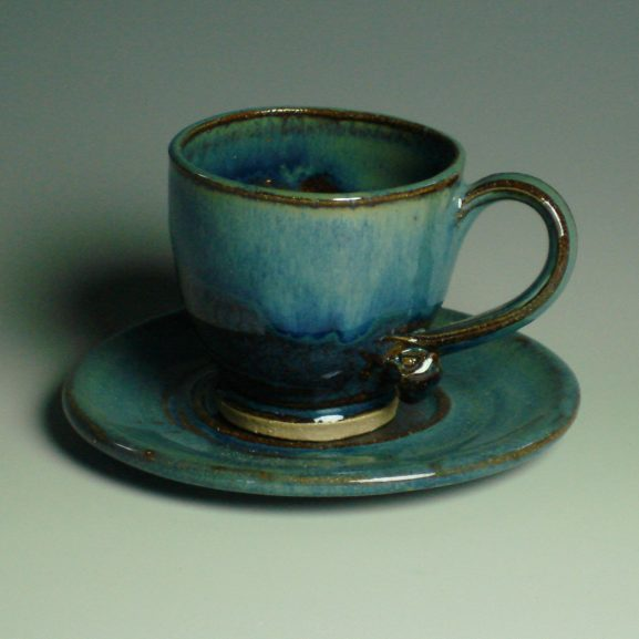 Espresso Cup and saucer - blue