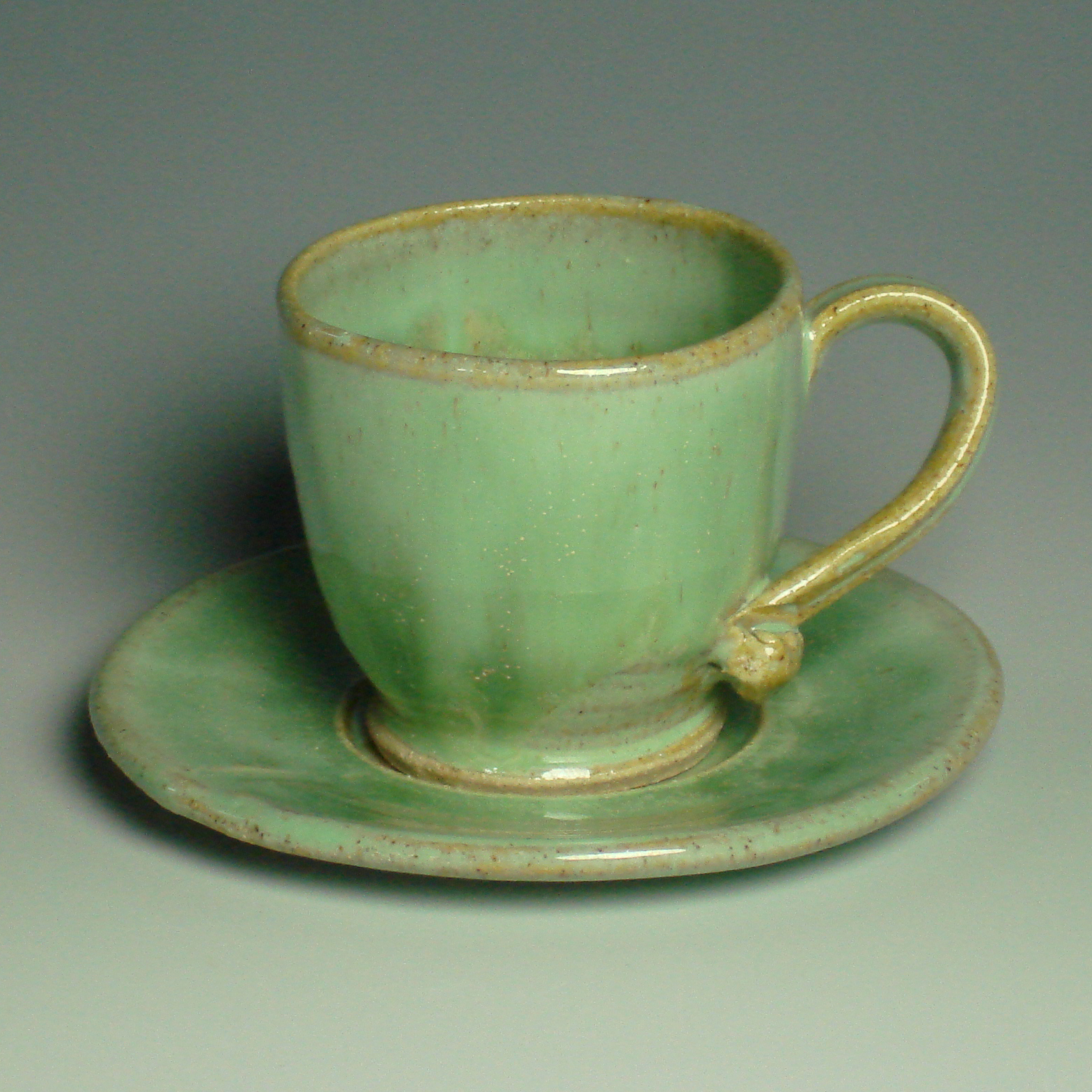 Espresso Cup and saucer Spring Green