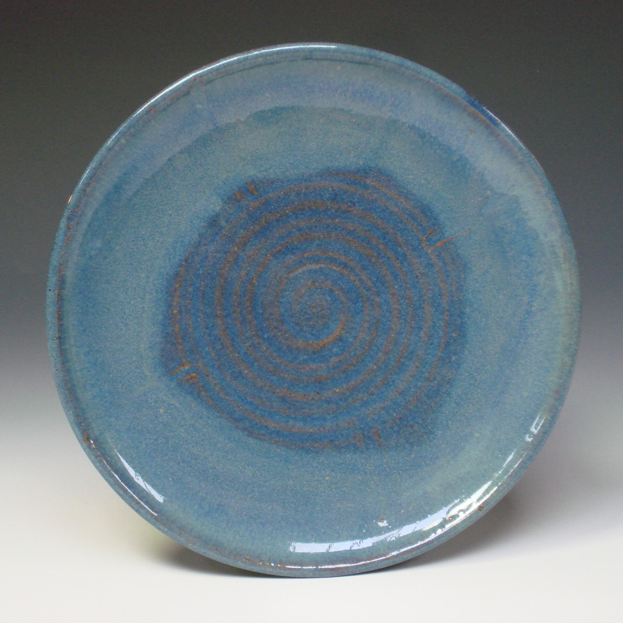 Serving Plate - Summer blue