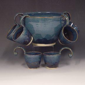 Punch bowl - blue colour