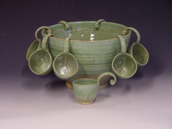 Punch bowl - Spring green