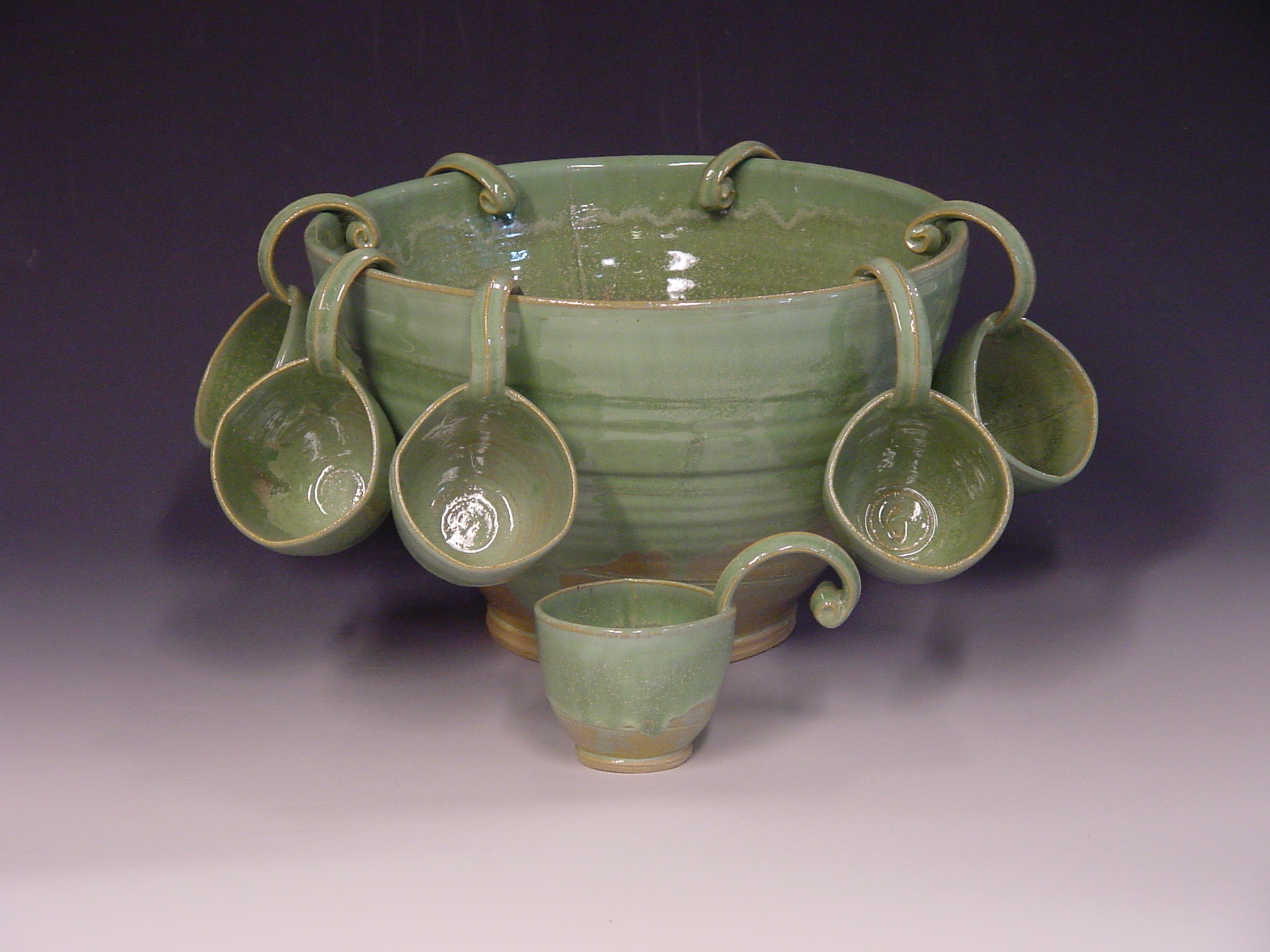Punch bowl - Spring green
