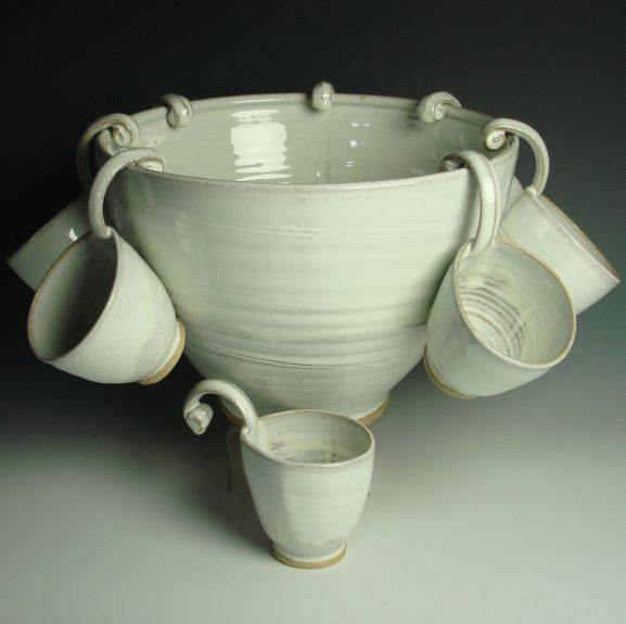 Punch bowl white