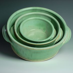 3 Serving Dish Set Green