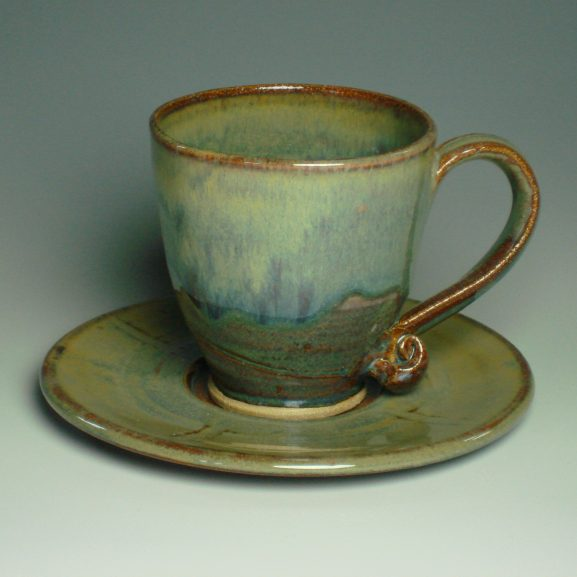 Tea cup and saucer - Autumn