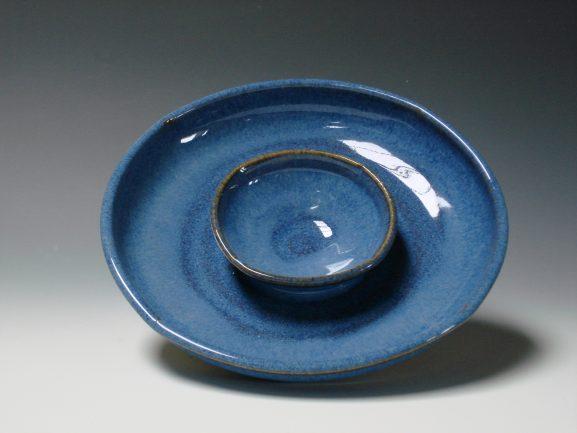 Olive dish/dip - Blue