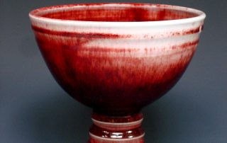 Hand-made red porcelain bowl