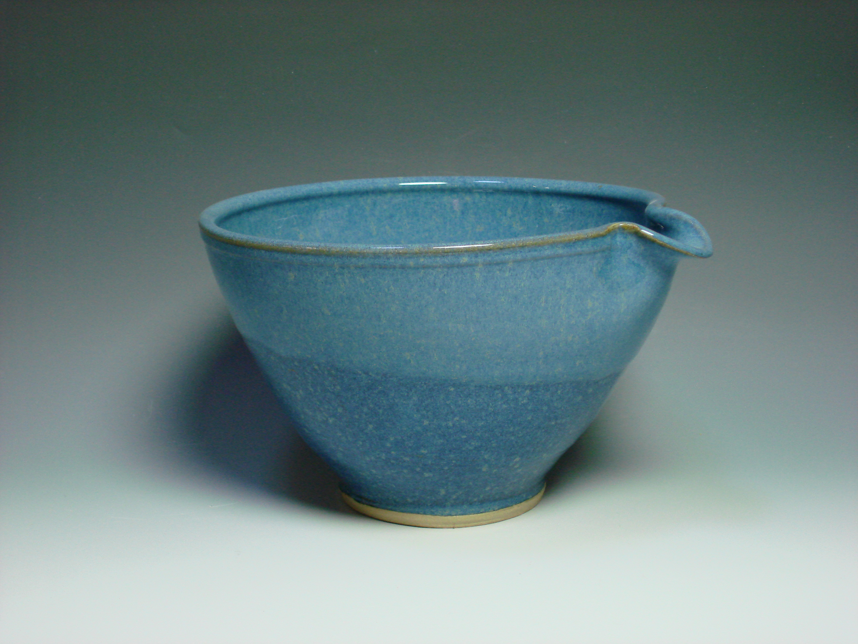 Blue ceramic mixing bowl