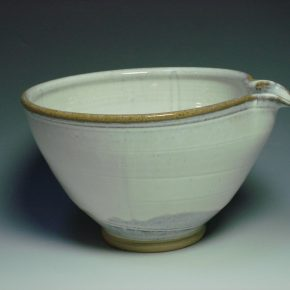 White ceramic mixing bowl