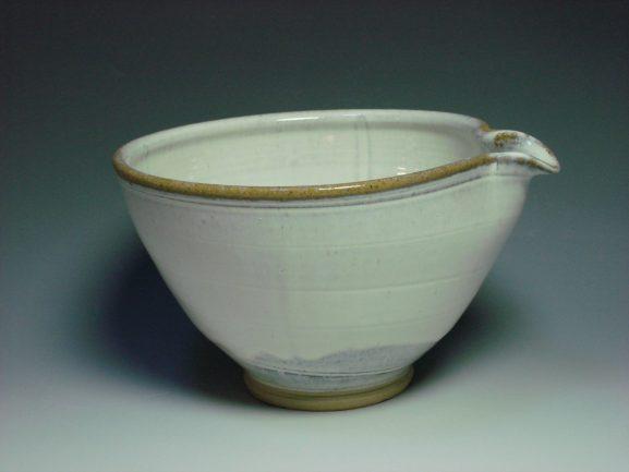 White ceramic mixing bowl
