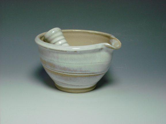 Ceramic pestal & Mortar white