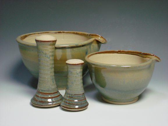 Ceramic pestal & mortar Autumn