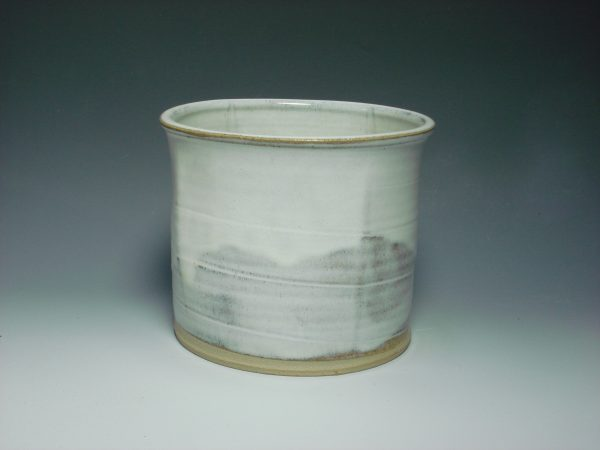 White ceramic plant pot