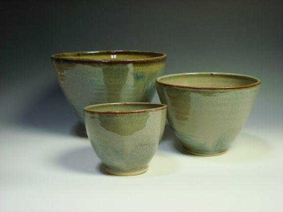 Autumn ceramic nestling bowls