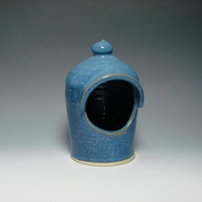 Ceramic Salt Pot - colour blue