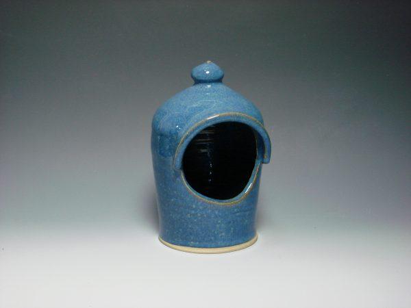 Ceramic Salt Pot - colour blue
