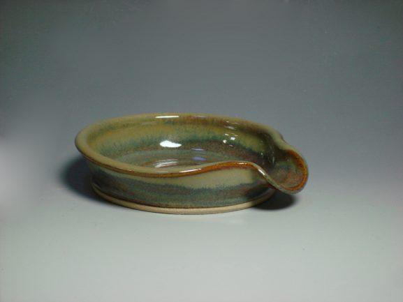 Autumn ceramic spoon rest