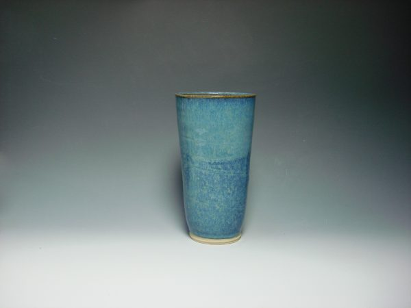 Ceramic blue vase