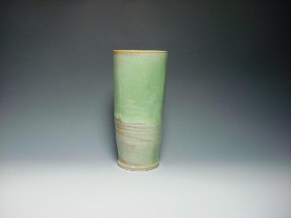 Ceramic green vase